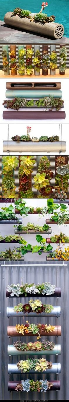 DIY Ideas: Cool DIY Indoor-Outdoor Modular Cylinder Planters