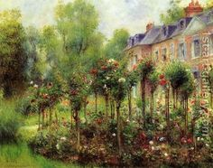 The Rose Garden At Wargemont Pierre Auguste Renoir | Oil Painting Reproduction | 1st-Art-Gallery.com