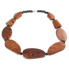 Wood Necklace Brown, $8, now featured on Fab.