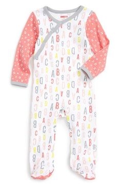 Skip Hop Print Cotton Wrap Footie (Baby Girls) available at #Nordstrom