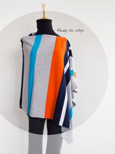This colorful and multi-style cashmere wear is soft and lightweight. It is very versatile and perfect cover up for between seasons. It can be worn 4 ways as a poncho or shawl or scarf or vest. Ideal for travel it fits and folds easily into your handbag. So stylish, unique and match any outfit. Cashmere Poncho, Custom Made, Shawl, Cover Up, Vest, Colorful, Seasons, Pure Products, Stylish