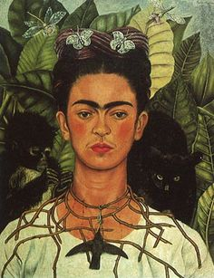 A Few Small Nips Passionately in Love  by Frida Kahlo  Giclee Canvas Print Repro