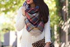 6 Ways To Wear A Blanket Scarf + Vince Camuto Franell Western...