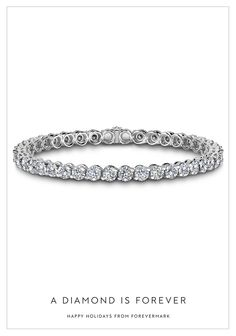 A life together is marked by milestones. Celebrate your love with a diamond tennis bracelet. #HintHint Happy Holidays from Forevermark #ADiamondIsForever