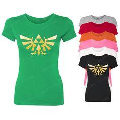Amazingitems4u Zelda Women's T-Shirt Legend of Zelda Shirts ($5.99) ❤ liked on Polyvore featuring tops, t-shirts, black, women's clothing, black t shirt, henley shirt, t shirts, pattern shirts and cotton shirts