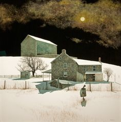 PETER SCULTHORPE Moonlight Over the Farm