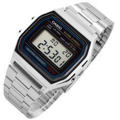 Casio Vintage A158WA-1 Wrist Watch for Men Accessories Digital Silver Steel Band #Casio #Casual