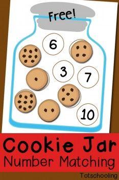 FREE Cookie Jar Number Match