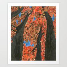Rustic Fall Art Print by Paxelart - $20.80