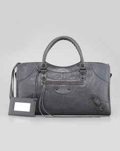 Classic Part Time Bag, Gris Tarmac by Balenciaga at Neiman Marcus.