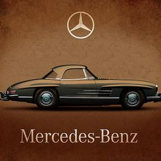 Browse through images in Mark Rogan's Classic Car Collection collection. This gallery contains a selection of iconic cars beautifully presented from the front or from above. Mercedes 300, Mercedes Benz Models, Art Deco Posters, Vintage Posters, Car Prints, Canvas Prints, Framed Prints, Top Luxury Cars, Mobile Art