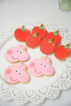Peppa and apple cookies #Baking #Peppa #PeppaPig