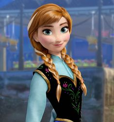 """Anna is very pretty. And unlike many people, I don't think that it looks just like """"Tangled with snow."""" Can't wait for Disney's """"Frozen!"""""""