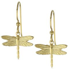 "Privileged NYC Gold plated Dragonfly Earrings 0.5"" Privileged NYC. $30.00"