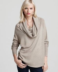 i just love taupe drapey sweaters