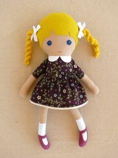 Reserved for Dagnija Fabric Doll Rag Doll Girl in by rovingovine, $37.00