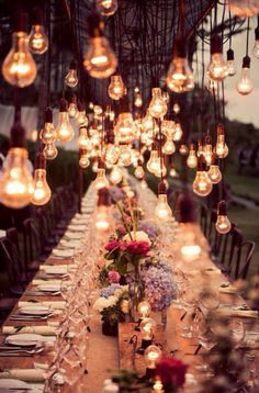 Love this whimsical and romantic wedding set up! It is absolutely beautiful - perfect outdoor wedding reception for all the guests to enjoy on your wedding day! Bali Wedding, Our Wedding, Dream Wedding, Wedding Vintage, Light Wedding, Party Wedding, Trendy Wedding, Summer Wedding, Vintage Weddings