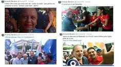 Conteúdo para Twitter e cobertura das caminhadas e comícios.   Setembro a Novembro de 2014.
