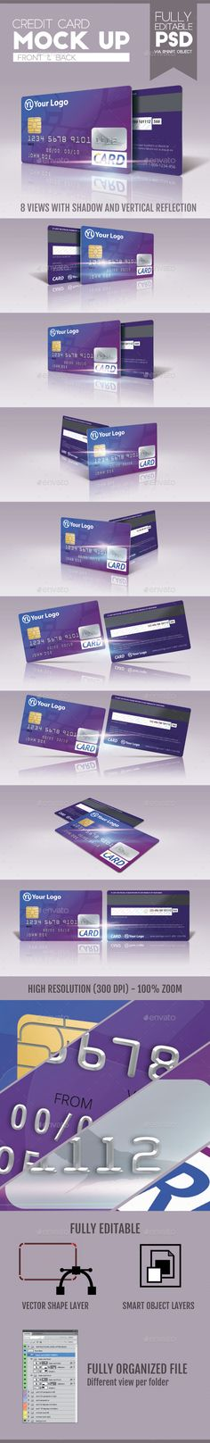Buy Credit Card Mock Up by doghead on GraphicRiver. Featured Credit Card (Front and back). 8 views Size: / in / px High Resolution File: Credit Card Design, Name Card Design, Design Cards, Wood Business Cards, Business Credit Cards, Credit Score, Mockup Templates, Flyer Template, Vip Card