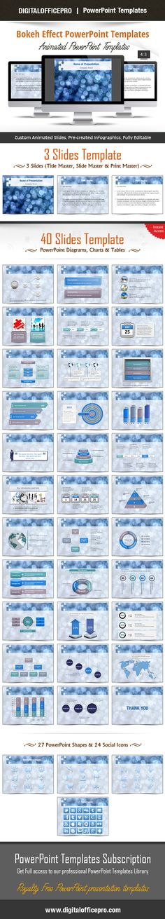 Impress and Engage your audience with Bokeh Effect PowerPoint Template and Bokeh Effect PowerPoint Backgrounds from DigitalOfficePro. Each template comes with a set of PowerPoint Diagrams, Charts & Shapes and are available for instant download.