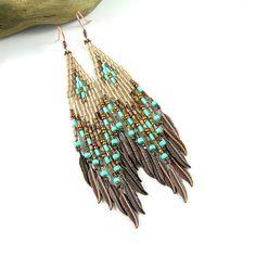 Beaded Earrings inspired by Native American Beaded Earrings