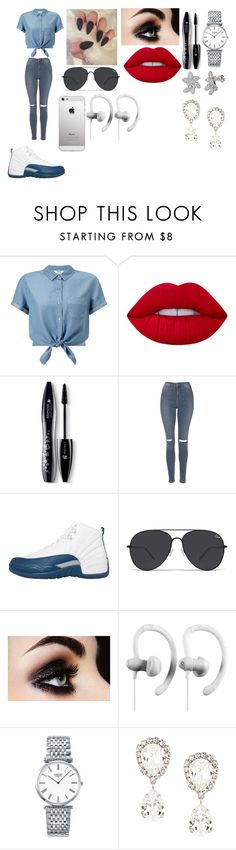 """""""Its A New Day :)"""" by breezybrebre on Polyvore featuring beauty, Miss Selfridge, Lime Crime, Lancôme, Topshop, NIKE, Longines and Dolce&Gabbana"""