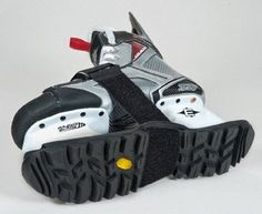 SKABOOTS Skaboots Skate Guards Overview - Revolutionary boot-like sole. Velcro strap for fastening to skates. Hockey Decor, Hockey Gifts, Hockey Stuff, Hockey Shop, Ice Hockey, Hockey Tournaments, Hockey Players, Hockey Goalie Equipment, Hockey Sweater