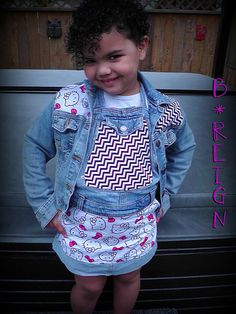 Toddler Girls Hello Kitty fabric mixed with black by BreezyReign, $29.00
