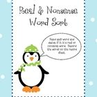 Sort real and nonsense words and record on student sheet....