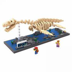 Creator Jurassic dinosaur plesiosaur Fossil micro diamond building block plesiosaurus nanoblock bricks science educational toys - New Ideas Dinosaur Museum, Dinosaur Fossils, Dinosaur Gifts, Legos, Lego Hand, Lego Dragon, Plastic Dinosaurs, Jurassic World Dinosaurs, Jurassic Park