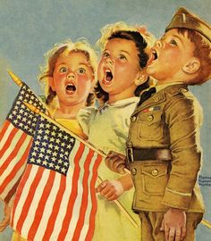 """""""...Let us all be grateful for a land so fair, as we raise our voices in a solemn prayer.  God Bless America..."""""""
