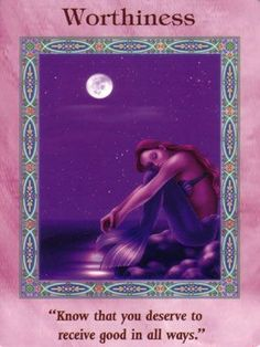 Worthiness Card Extended Description - Mermaids and Dolphins Oracle Cards by…