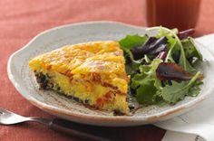 Wild Rice, Bacon & Cheddar Frittata Recipe - Kraft Recipes