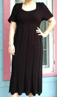 Elegant Empire Waist Dress Free Pattern in my Ravelry library