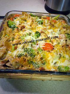 21 Day Fix Approved Buffalo Chicken Veggie Bake Casserole