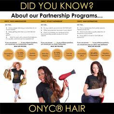 #ONYCHair Partnership Programs provides ways of earning extra income, JUST by bragging about our #hair.  Check out the Program most suitable for you!   Partner With US Now>>> ONYCHair.com Partner With UK Now>>> ONYCHair.uk Partner With NG Now>>> ONYCHair.ng