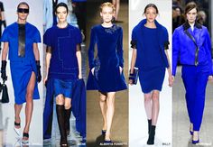 Reflex Blue - Colour Forecast Fall/Winter 2014/2015 - Runway Women's Fashion Photo: Trend Council DORLY DESIGNS: Our Top Runway Fashion Colours F/W 2014/2015 Part IV