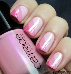 Triple Pink Shaded Nails Pictures, Photos, and Images for Facebook, Tumblr, Pinterest, and Twitter Pinterest