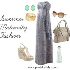 Summer Maternity Fashion, created by retrogalusa on Polyvore