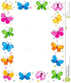 Illustration about Colorful butterflies border / frame / background. Illustration of blank, easter, colour - 24222858 Boarder Designs, Page Borders Design, Butterfly Background, Frame Background, Background Images, Butterfly Clip Art, White Butterfly, Boarders And Frames, Flower Ornaments