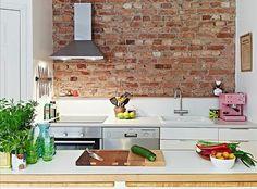 Tendência na Decoração - tijolinho na cozinha