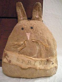 Primitive Spring Bunny Decoration Easter