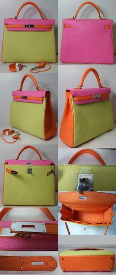 hermes kelly bag in colors