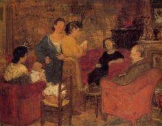 Albert Dasnoy (1901-1992), Réunion de famille, 1932-1933. Le peintre est considéré comme l'artiste le plus représentatif de l'animisme.