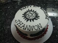 Another Supernatural birthday cake