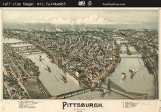 Fowler's Birdseye #Map of #Pittsburgh (1902) — http://www.bigmapblog.com/2011/birdseye-map-of-pittsburgh-1902/