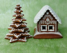 Ostatné Baking And Pastry, Holiday Cookies, Royal Icing, Gingerbread, Cake Recipes, Diy And Crafts, Sweets, Ideas, Wafer Cookies