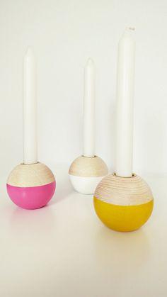Ahoj-2012 Dip-Dye runder Kerzenständer Kerzenhalter in by Ahoj2012