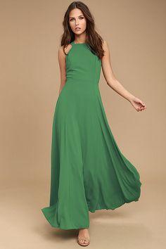 Lovely Green Dress - Lace-Up Dress - Maxi Dress - $87.00