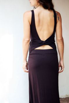 Long maxi dress wrapping back open back fairy goddess by Picarona, $52.00